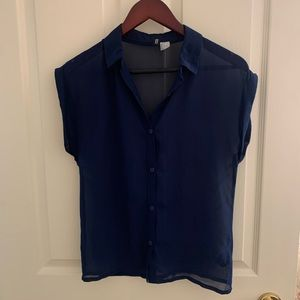 [4/$10] Navy Blue Blouse